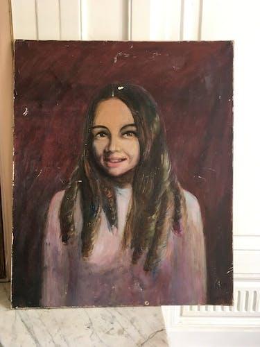 Portrait a l'huile vintage