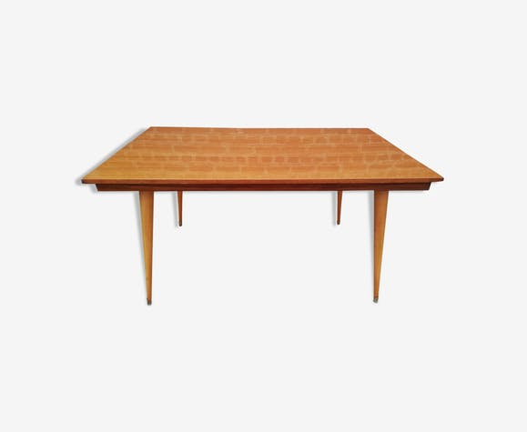 60s varnished teak table