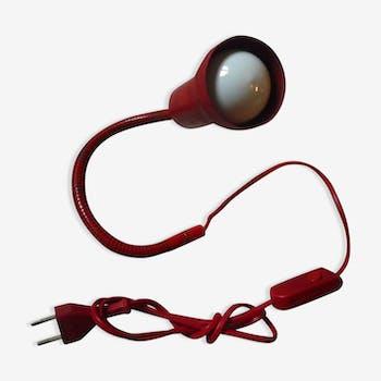 Red vintage snake lamp 70s