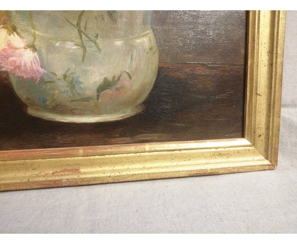 Tableau fleurs huile sur toile