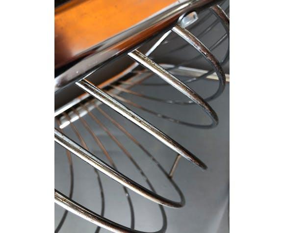 Ensemble de 2 chaises en fil de chrome Gastone Rinaldi
