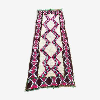 Carpet boucherouite Berber vintage 230x90cm