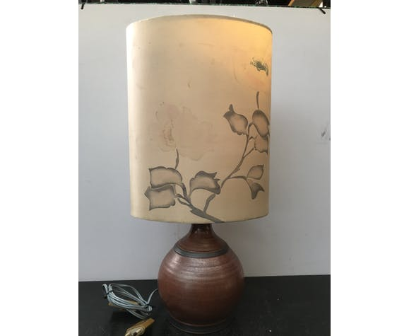 Ancienne lampe boule en grès Atelier St Simon