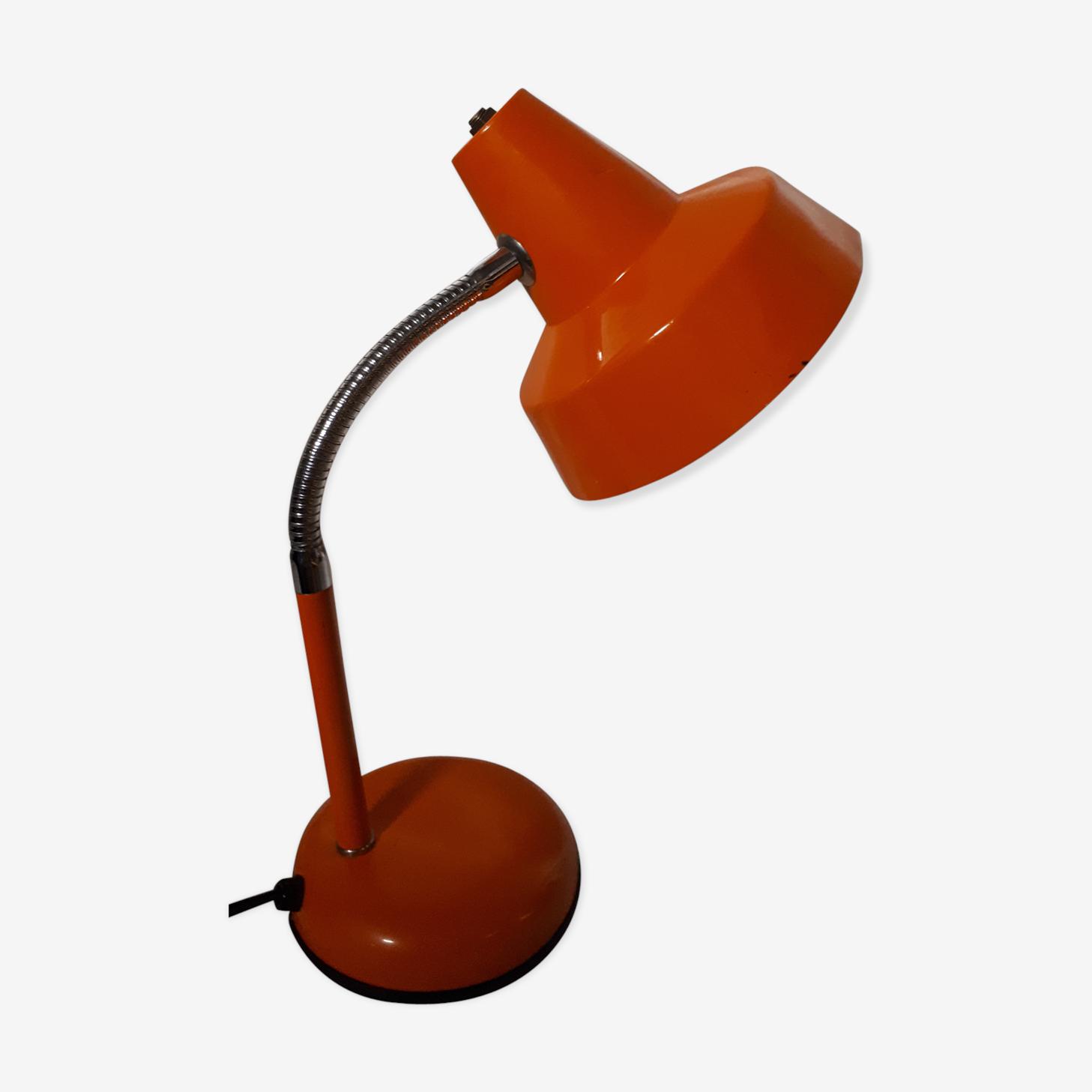 Vintage metal desk lamp orange