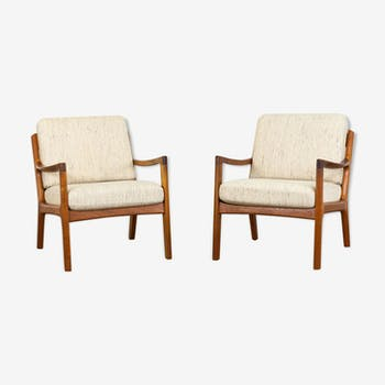 Pair of senator lounge chairs by Ole Wanscher for France & Søn