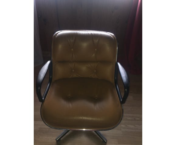 Charles Pollock President leather chair