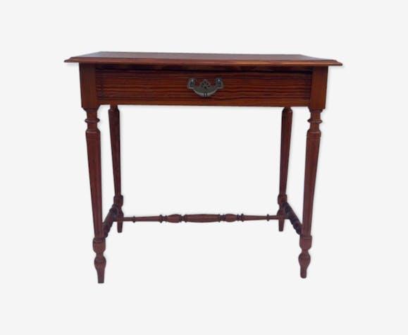 Petite table bureau en pitchpin bois (Matériau) bois