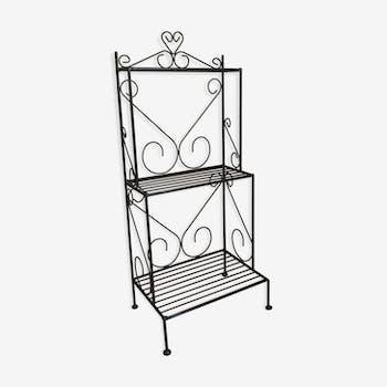 Wrought iron shelf