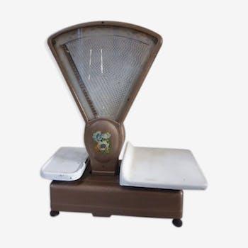 Balance d'épicier double de marque Berkel Usine de Lyon vintage