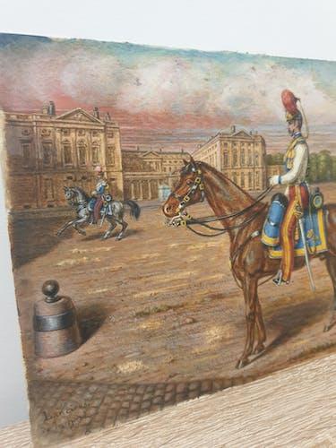 Pastel sur papier Compiègne 1860