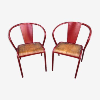 Pair of square armchairs - 1950s