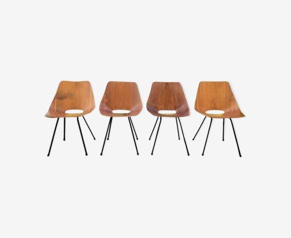Suite de 4 chaises Thonet années 50