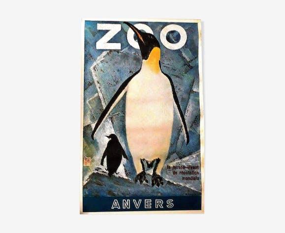 Affiche originale du zoo d'Anvers