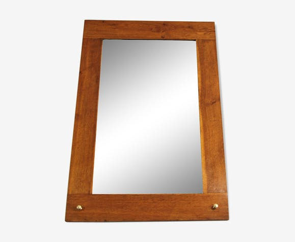 French mirror with oak frame 1920s 66x99cm - wood - wooden - vintage ...