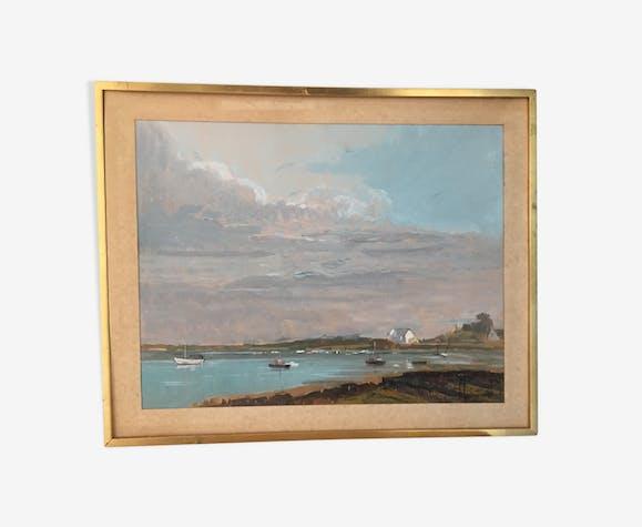 38 x 50 cm marine watercolor