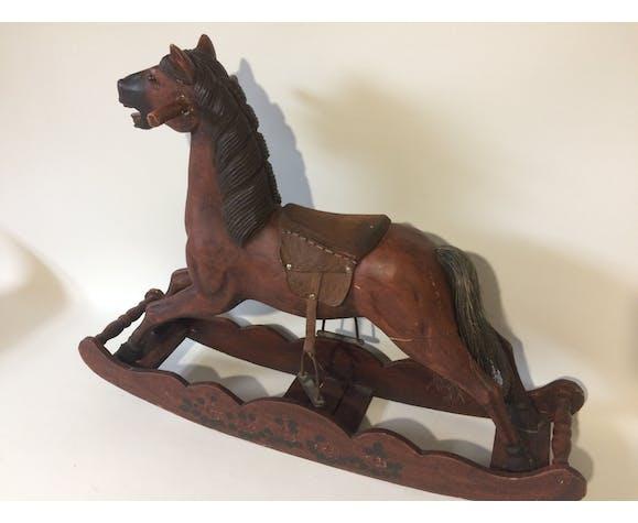 Rocking wooden horse