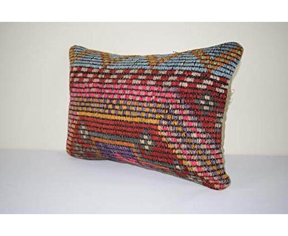 Turkish lumbar pillow cover, wool