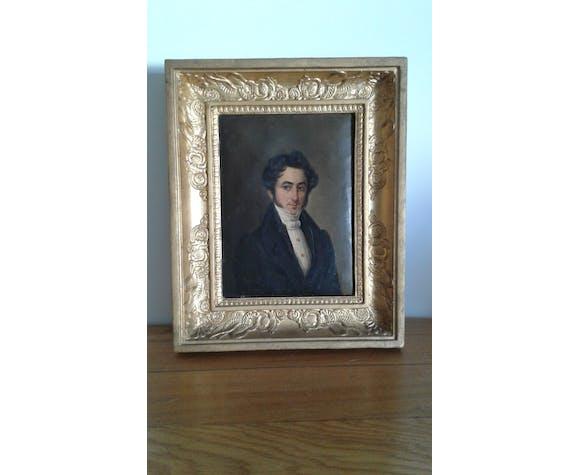 Paire de portraits huile sur toile