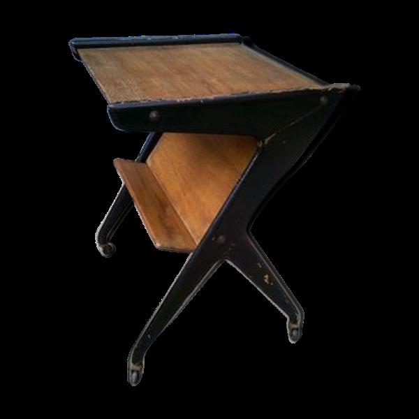 Table télé vintage en chêne
