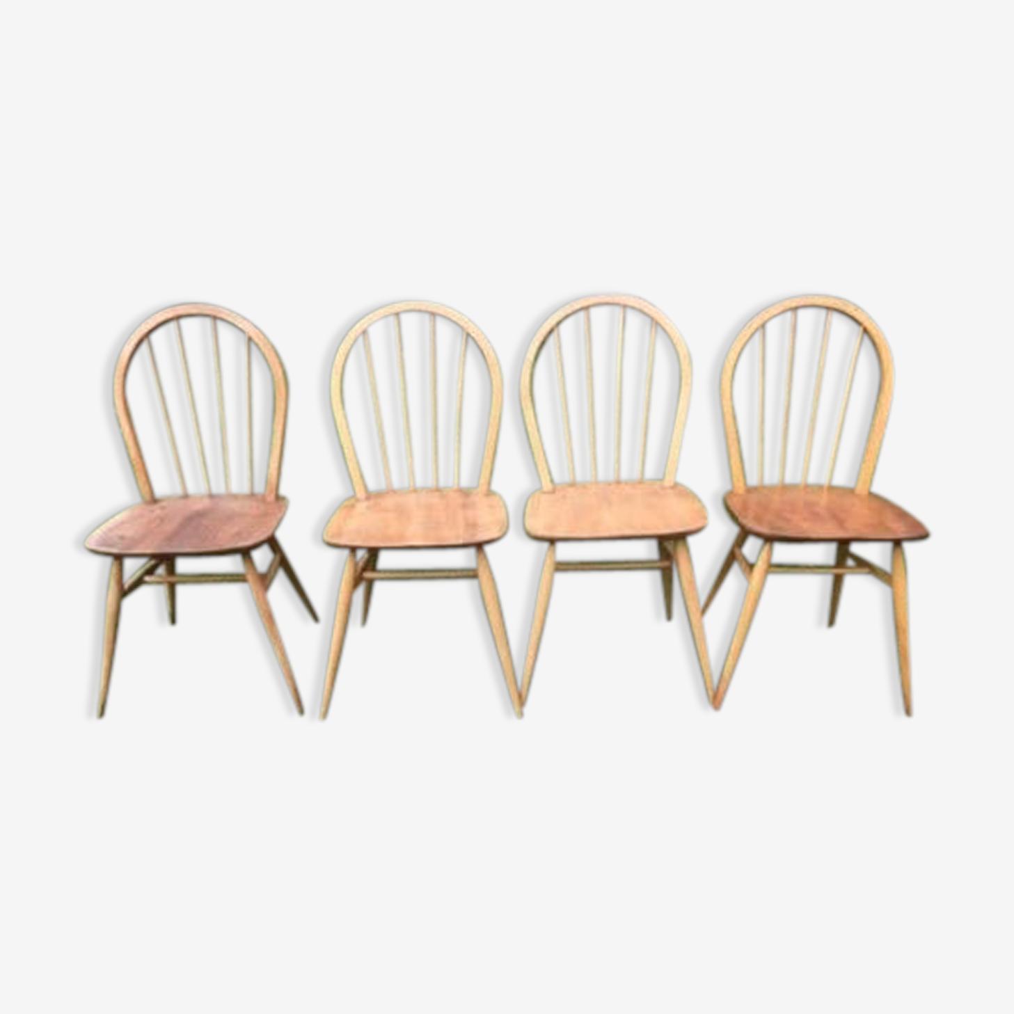 Ensemble de 4 chaises Ercol