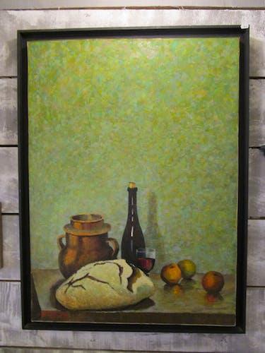 Peinture huile sur toile - nature morte - françois gabin