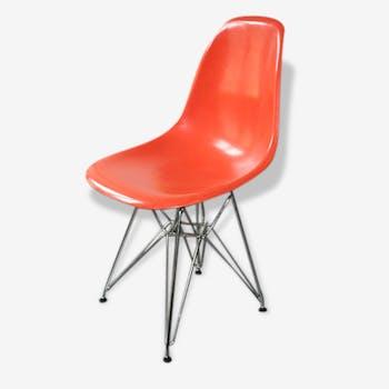 Chaise dsr Eames orange Herman Miller