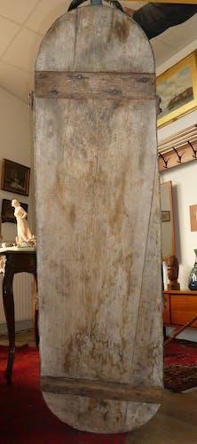 Baignoire en zinc socle en bois epoque 19eme