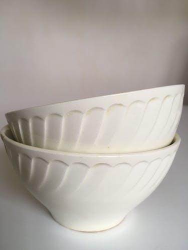 Paire de bols en faience terre de fer de Gien