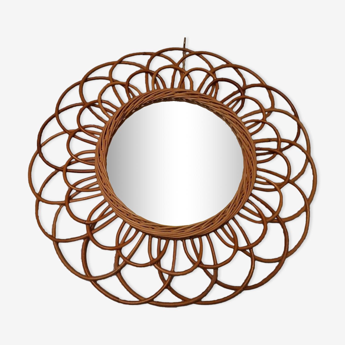 Mirror rattan vintage sun-shaped flower 5cm