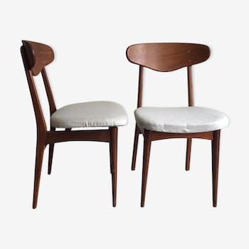 Paire de chaises danoise vintage années 60