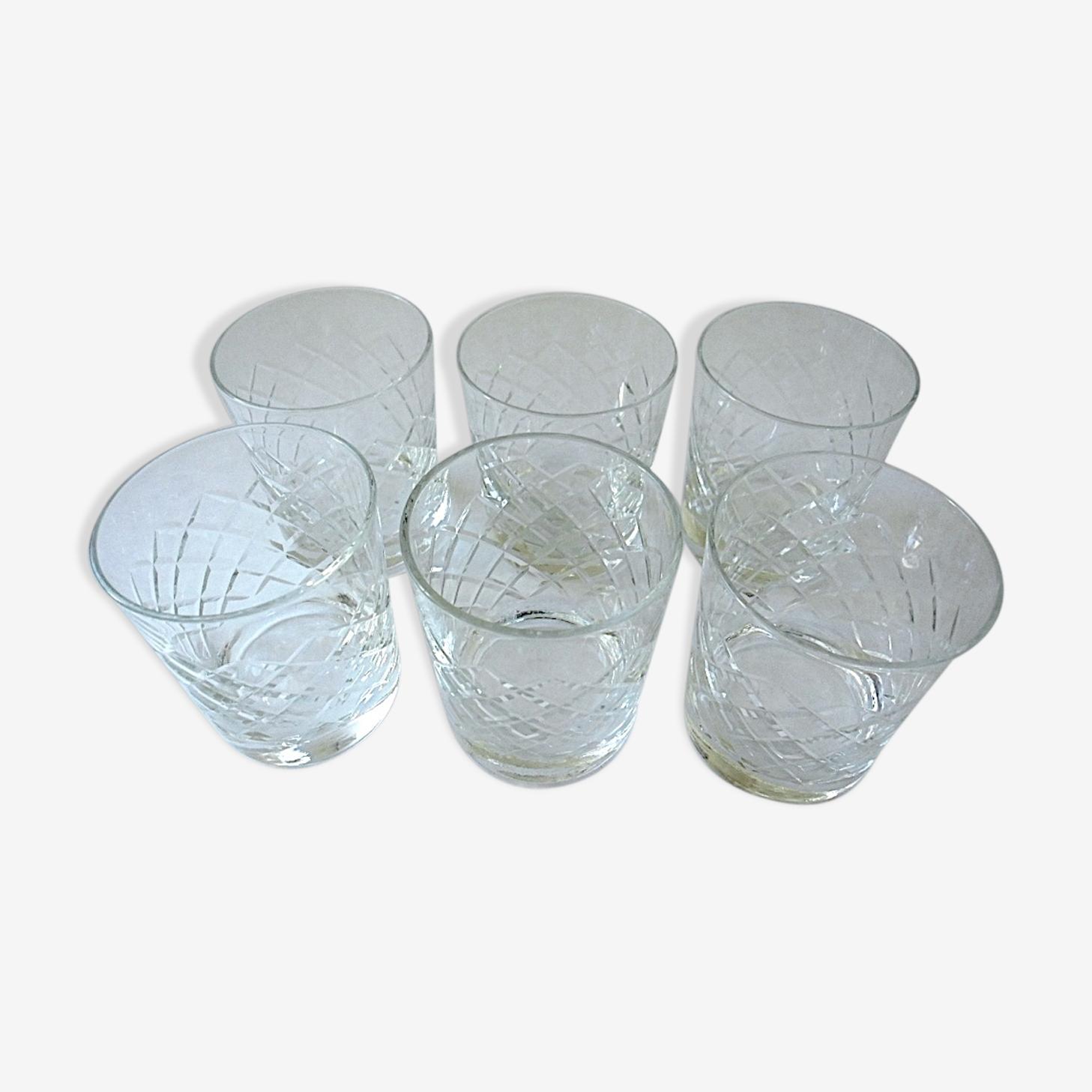 Set of 6 bourbon cups