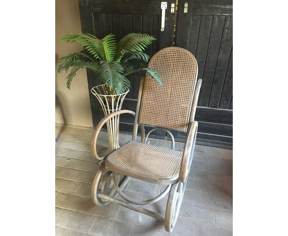 Rocking-chair en bois courbé 1960