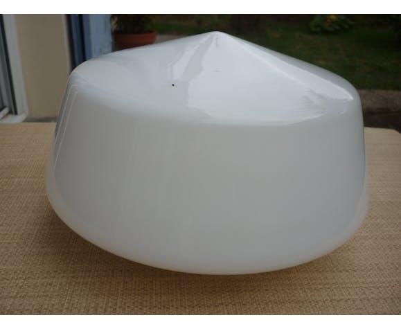 Abat jour globe blanc opaline pour suspension