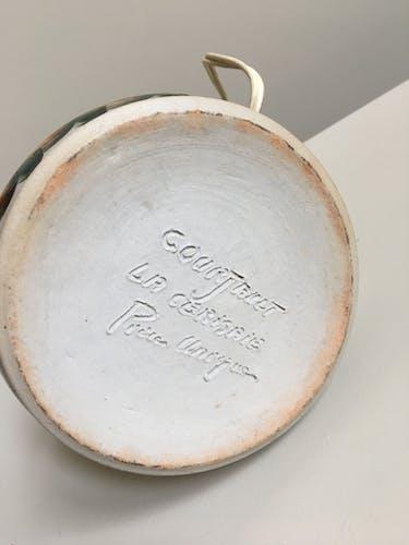 Ceramic lamp Jean Claude Courjault