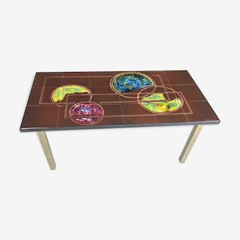 Table basse vintage céramique