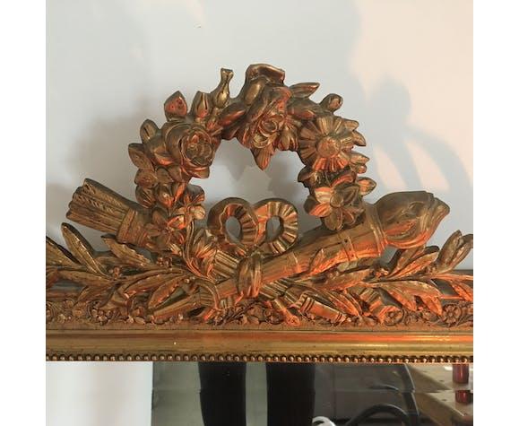 Miroir Napoleon III avec fronton, 113x77cm