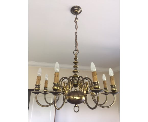 Chandelier in copper to 8 branches