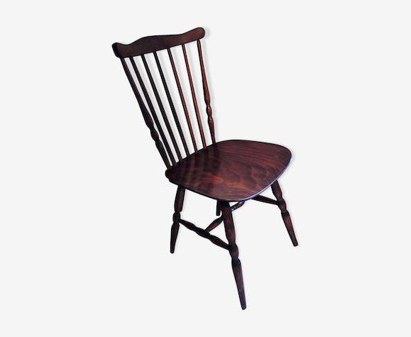 Chaise baumann bois mat riau bois couleur for Chaise baumann