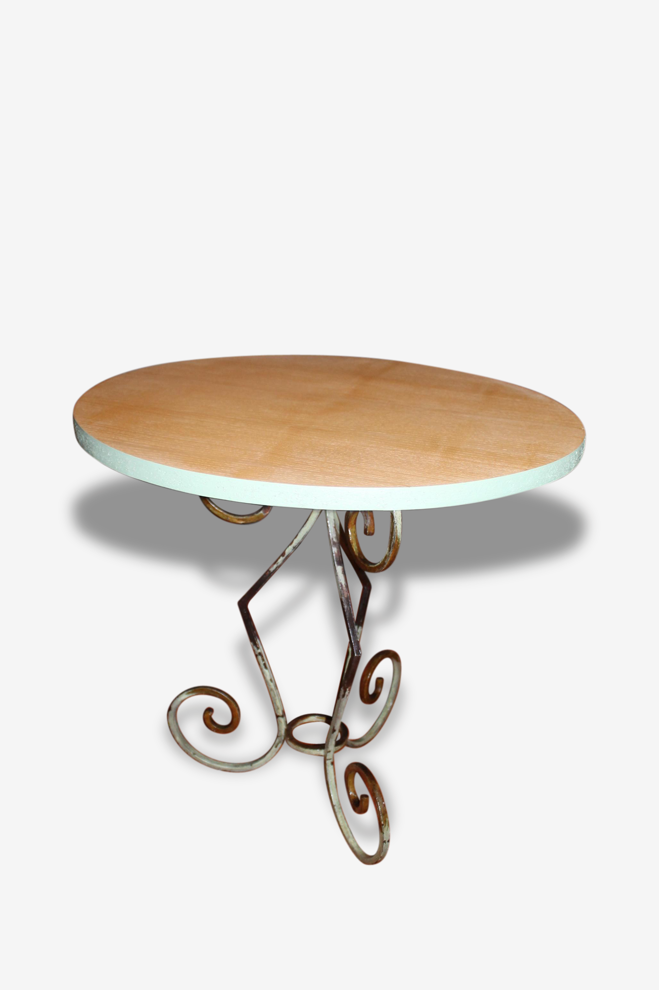 Table d'appoint métal et frêne