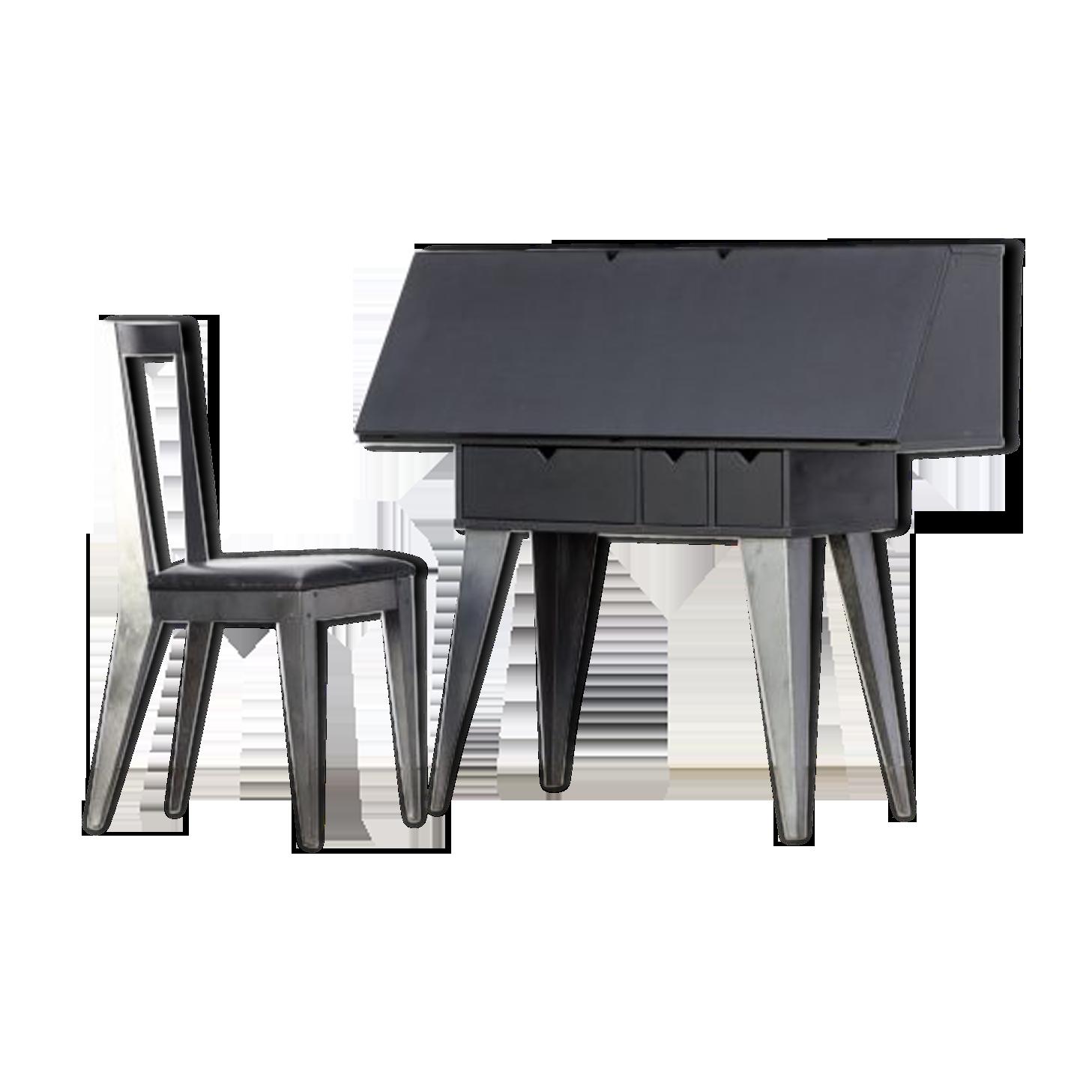 Bureau de tjord björklund et chaise pour ikea bois matériau
