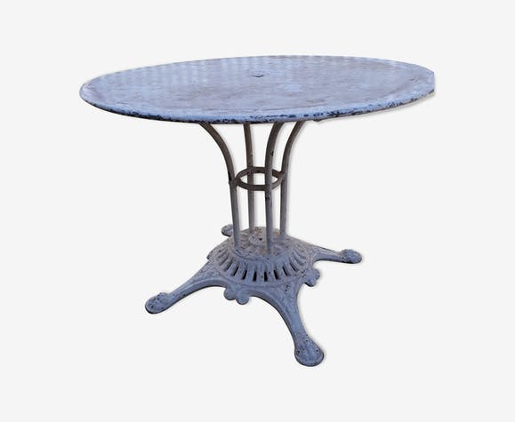 Table jardin ancienne siglé Ew Depose - fonte - blanc - classique ...