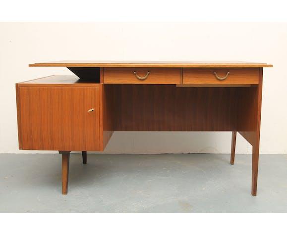 Bureau noyer bicolore 1950