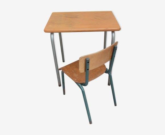 Ancien Bureau Et Chaise Decole Maternelle