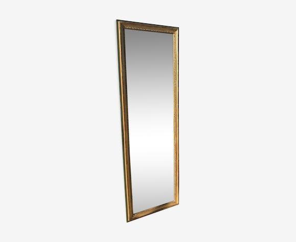 Mirror Louis XVI in between golden with gold leaf 50x150cm