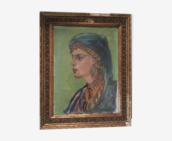 "Portrait orientaliste "" Samira la marocaine ""."