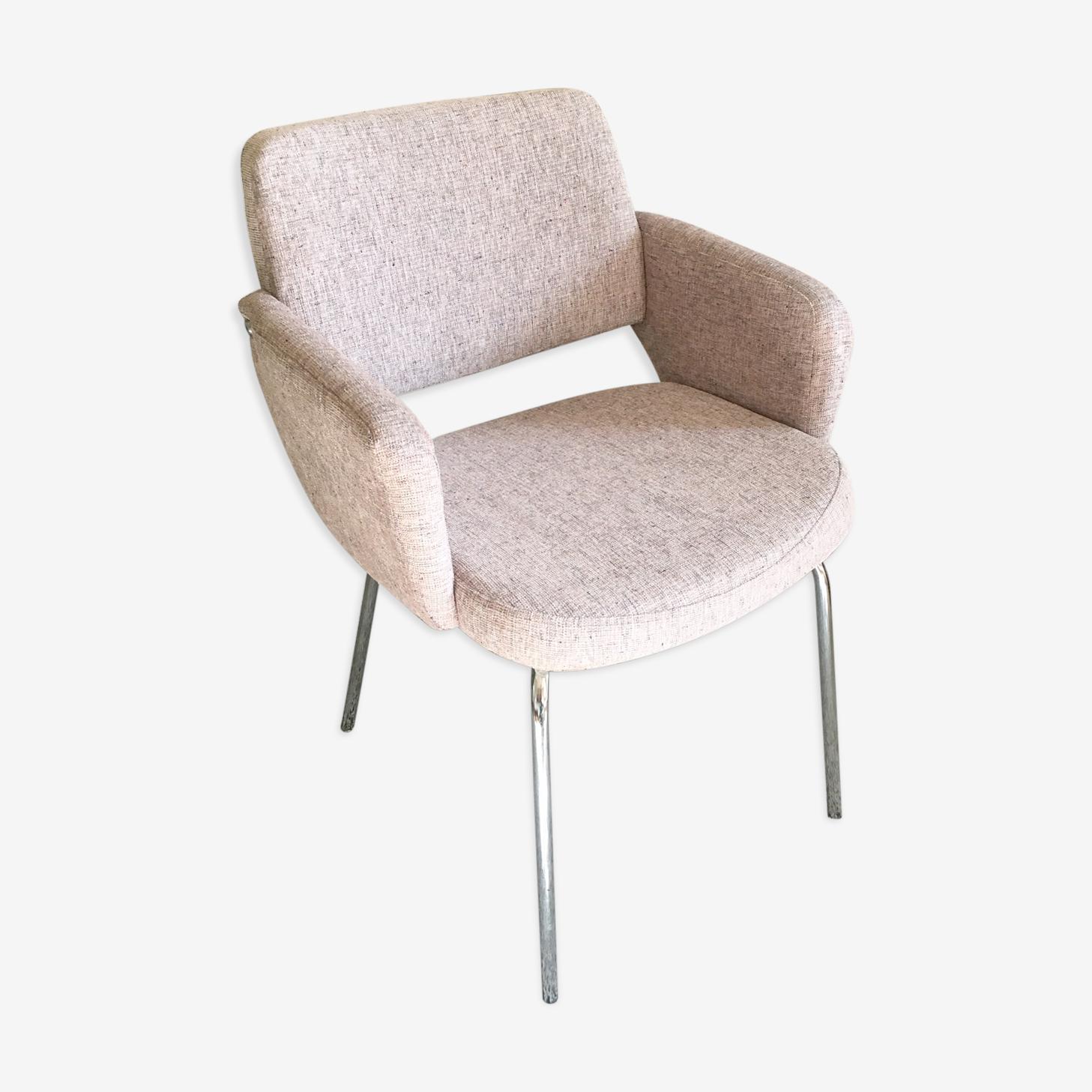 Restored vintage pink armchair