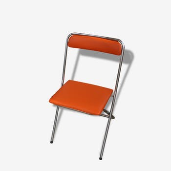 Vintage orange folding chair soudexvinyl