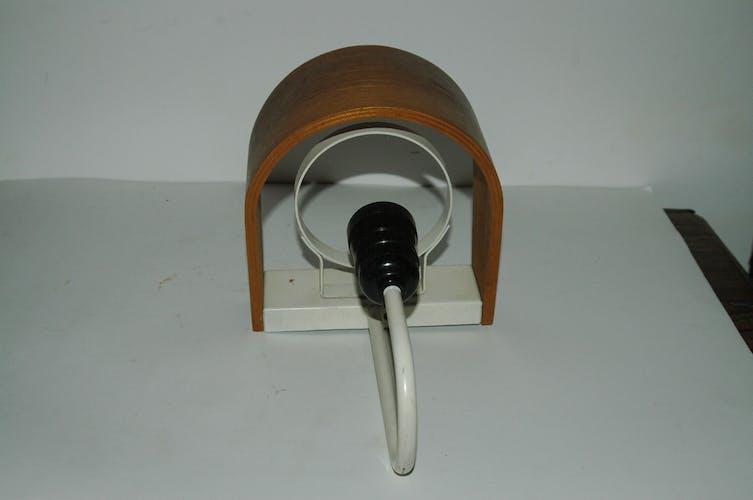 Applique des années 70 en bois et métal laqué