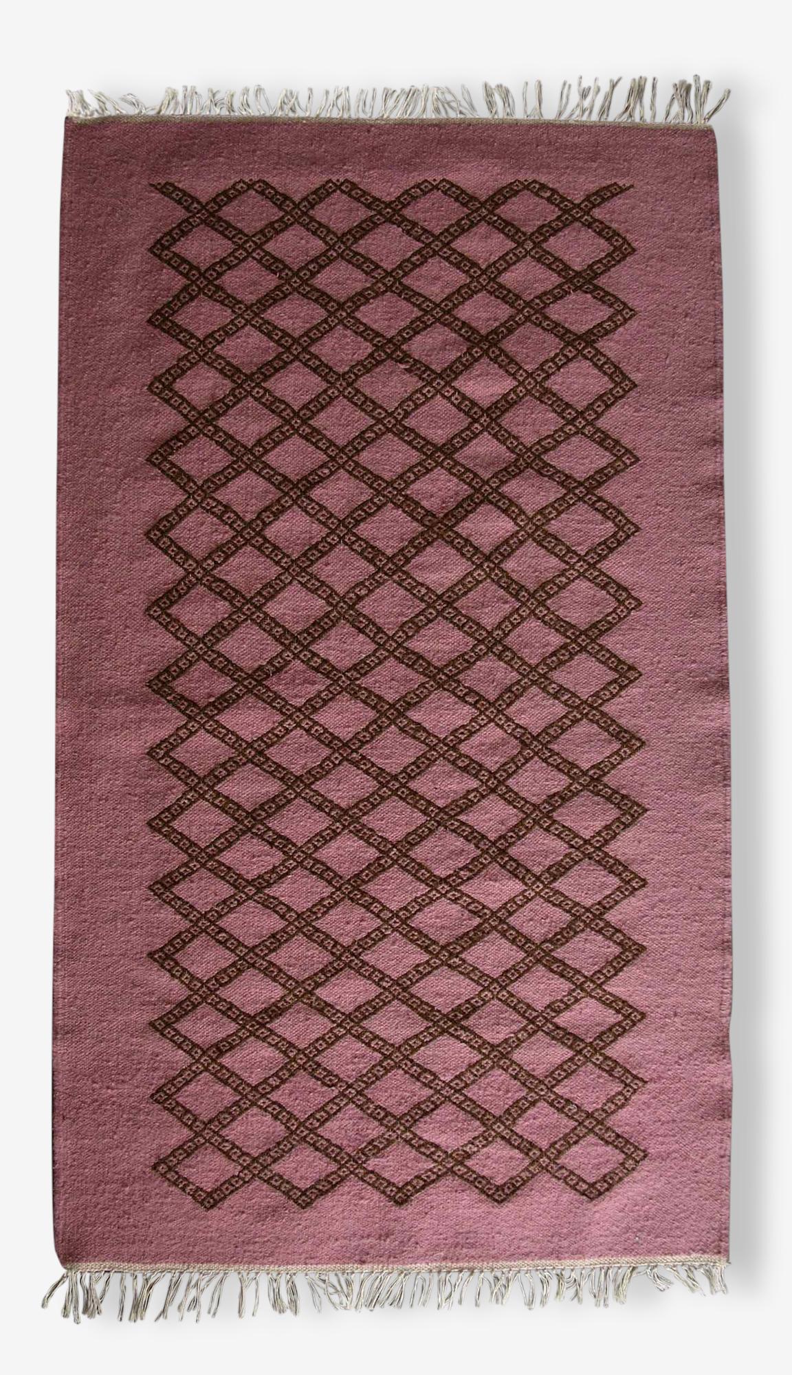 Tapis kilim berbère rose, 100x60