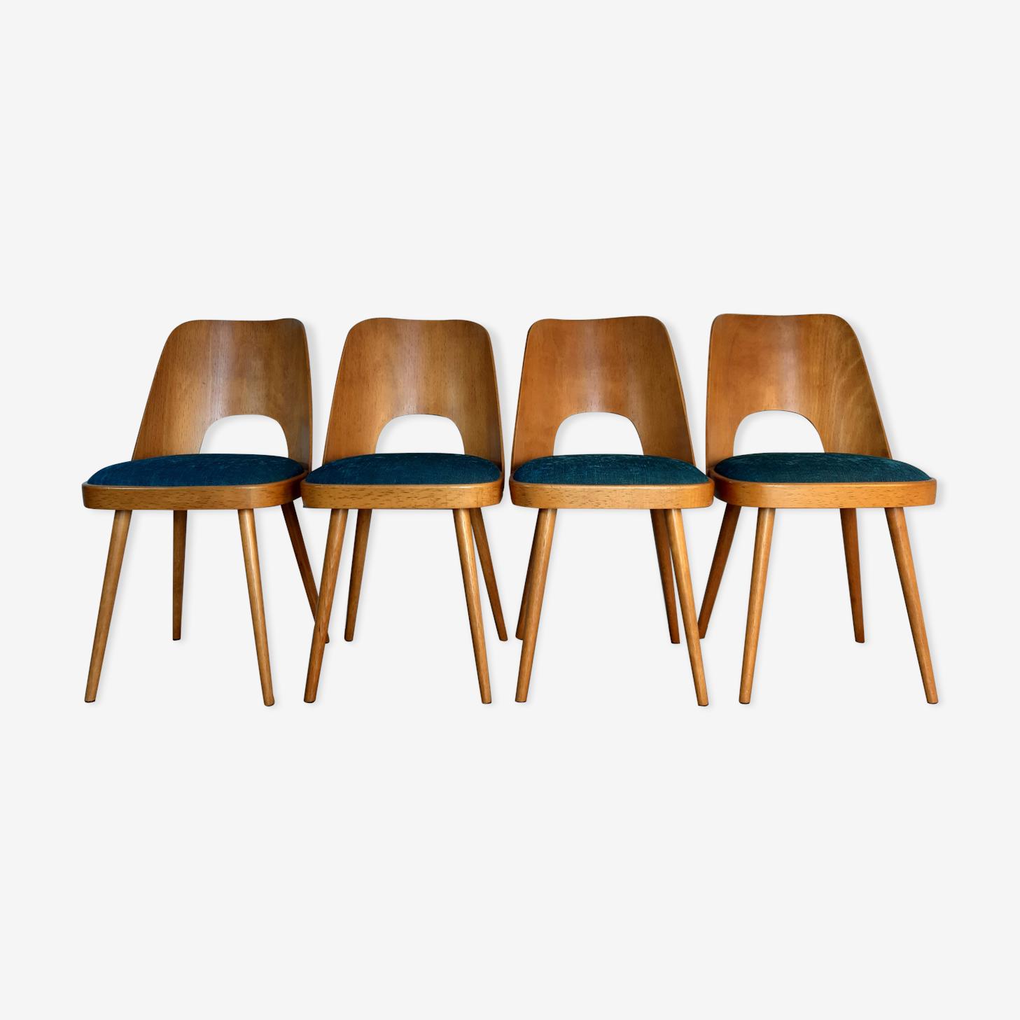Set of 4 chairs by Oswald Haerdtl for Ton, Czechoslovakia 1955